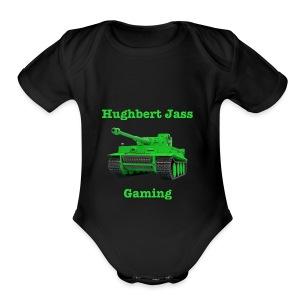 HughbertJassGamingTiger - Short Sleeve Baby Bodysuit