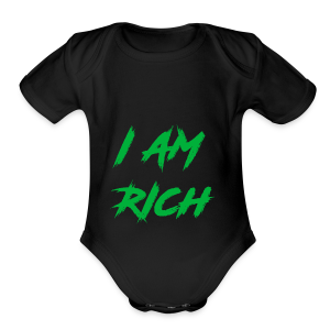 I AM RICH (WASTE YOUR MONEY) - Short Sleeve Baby Bodysuit