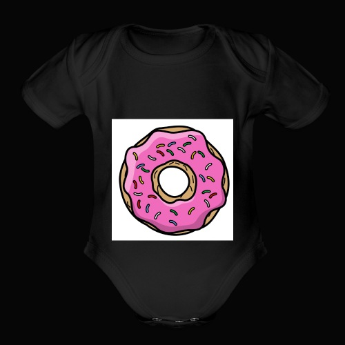 Doughnut Style - Organic Short Sleeve Baby Bodysuit