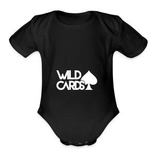 Black Wild Cards Hoodie - Short Sleeve Baby Bodysuit