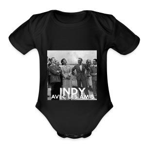 Indy avec les amis - Short Sleeve Baby Bodysuit