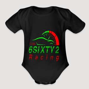 6sixty2 Racing3 MAIN PNG - Short Sleeve Baby Bodysuit