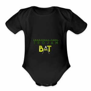 New Trojan Bat Logo - Short Sleeve Baby Bodysuit