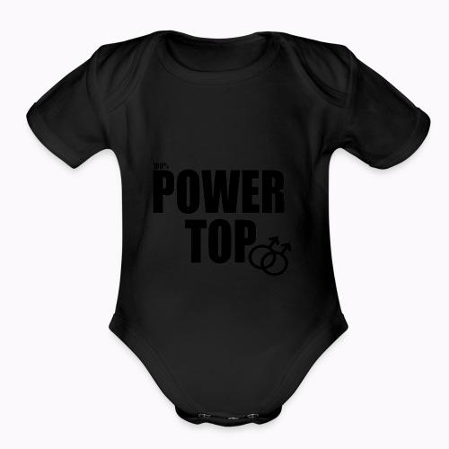 100% Power Top - Organic Short Sleeve Baby Bodysuit