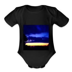 Sunset beauty - Short Sleeve Baby Bodysuit