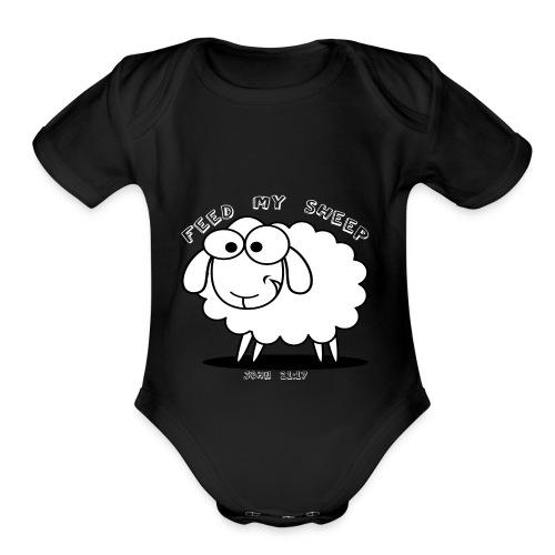 Feed My Sheep - Organic Short Sleeve Baby Bodysuit