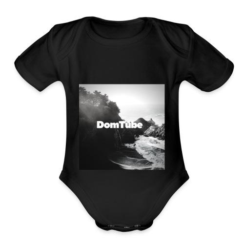 DomTube classic - Organic Short Sleeve Baby Bodysuit