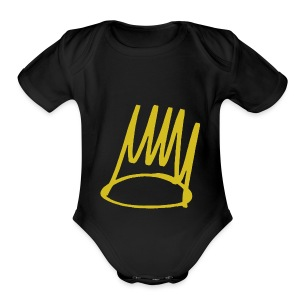 Cole Crown - Short Sleeve Baby Bodysuit