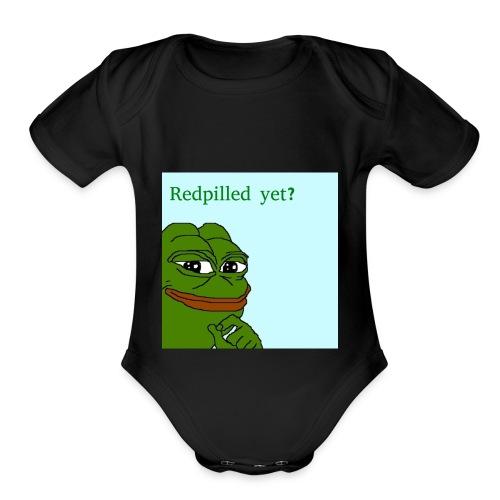 Smug Pepe Design - Organic Short Sleeve Baby Bodysuit