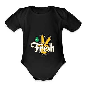 2Fresh2Clean - Short Sleeve Baby Bodysuit
