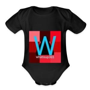 Whatisup365's logo 2014-2015 - Short Sleeve Baby Bodysuit