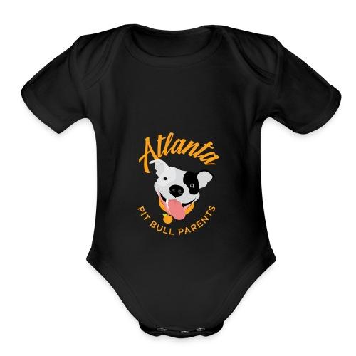 Atlanta Pit Bull Parents logo - Organic Short Sleeve Baby Bodysuit