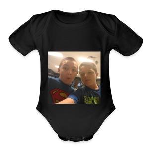 jacobs shirt/youtube partner - Short Sleeve Baby Bodysuit