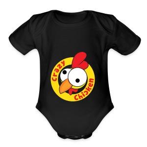 CrazyChicken Hoodie - Short Sleeve Baby Bodysuit