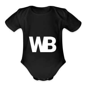 Winged Bandit WHITE profile picture - Short Sleeve Baby Bodysuit