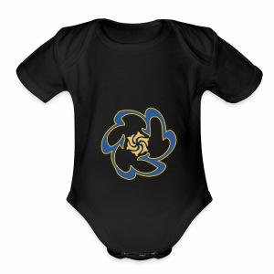 Spirit flower - Short Sleeve Baby Bodysuit
