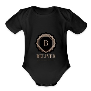 beliver - Short Sleeve Baby Bodysuit