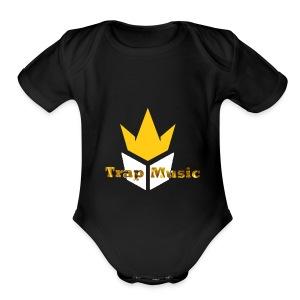 Sweater Black Trap Music TV - Short Sleeve Baby Bodysuit