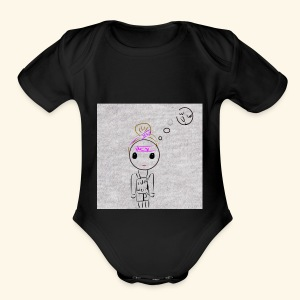 What - Short Sleeve Baby Bodysuit