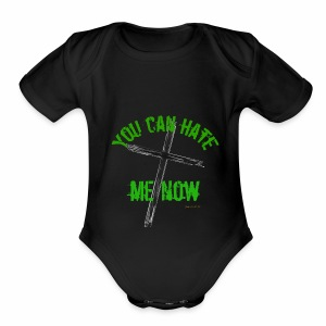 Hate Me - Short Sleeve Baby Bodysuit