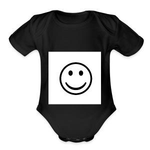 Happy - Short Sleeve Baby Bodysuit