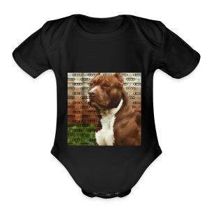 Pitbull- Faith Thread - Short Sleeve Baby Bodysuit