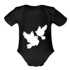 Pigeons and doves - Short Sleeve Baby Bodysuit