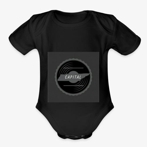 CAPITAL LOGO - Organic Short Sleeve Baby Bodysuit