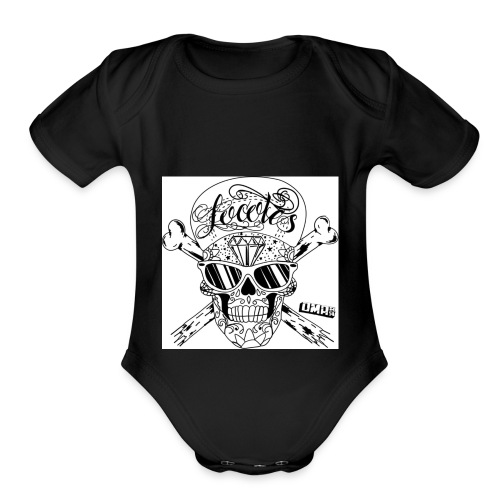 Skulls - Organic Short Sleeve Baby Bodysuit