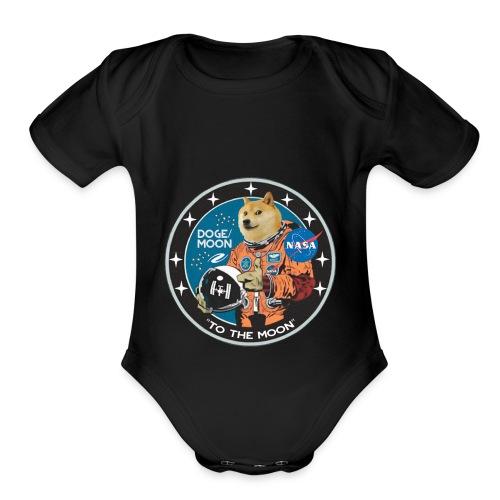 Doge to the Moon - Organic Short Sleeve Baby Bodysuit