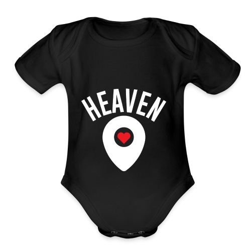 Heaven Is Right Here - Organic Short Sleeve Baby Bodysuit