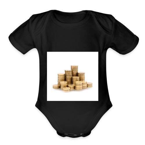 32 - Organic Short Sleeve Baby Bodysuit