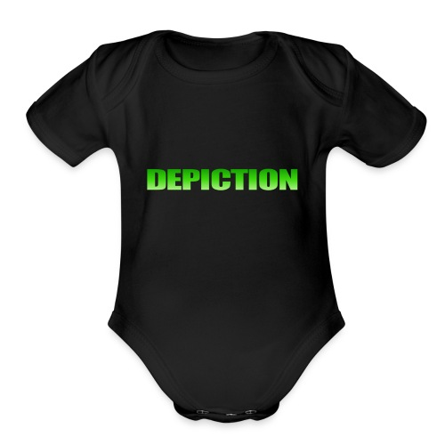 Depiction Impact [GREEN] - Organic Short Sleeve Baby Bodysuit