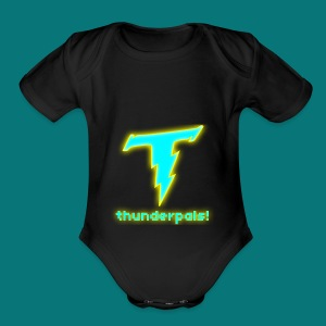 Thunder Pals Logo And Text - Short Sleeve Baby Bodysuit