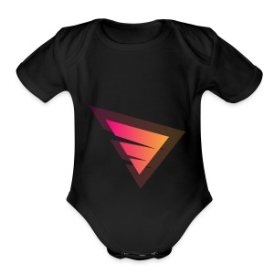 Logo IteX with another background logo - Short Sleeve Baby Bodysuit