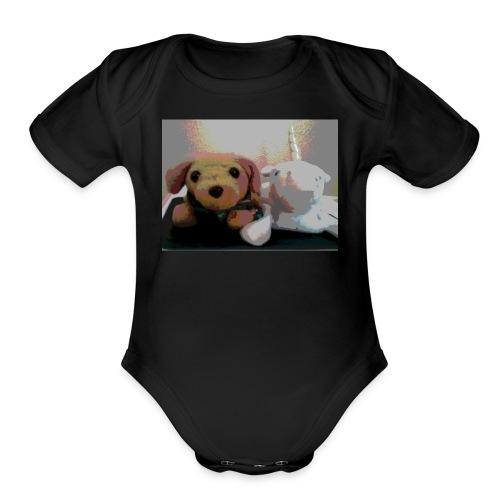 Buddy & Sparkles - Organic Short Sleeve Baby Bodysuit