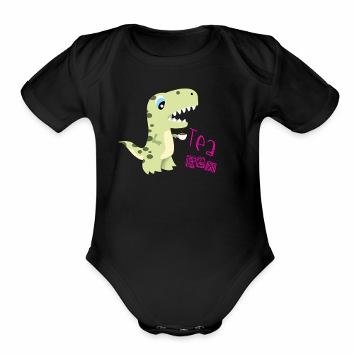 Tea - Rex - Organic Short Sleeve Baby Bodysuit