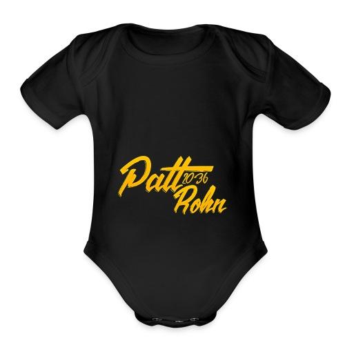 Patt Rohn 2036 Golden - Organic Short Sleeve Baby Bodysuit