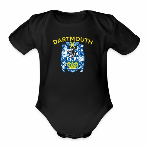 City of Dartmouth Coat of Arms - Organic Short Sleeve Baby Bodysuit