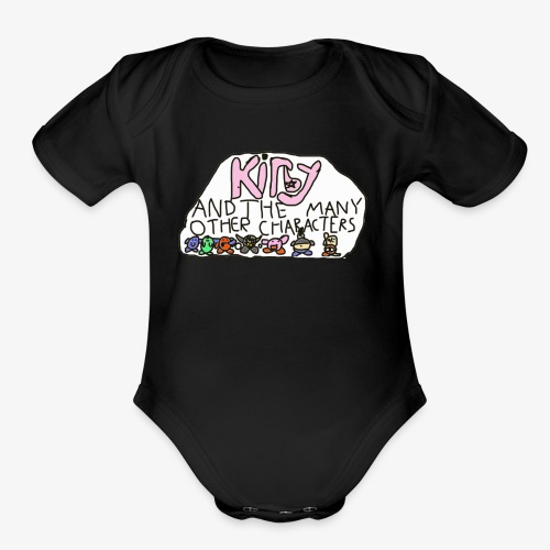 Kirby and the many other characters - Organic Short Sleeve Baby Bodysuit