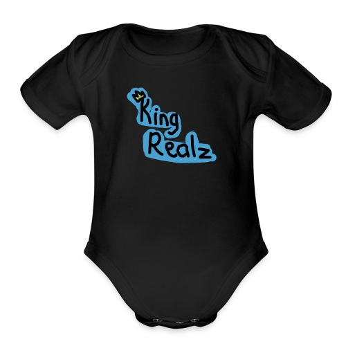 KingRealzMerch[TEXT] - Organic Short Sleeve Baby Bodysuit
