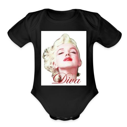 Marilyn Diva - Organic Short Sleeve Baby Bodysuit