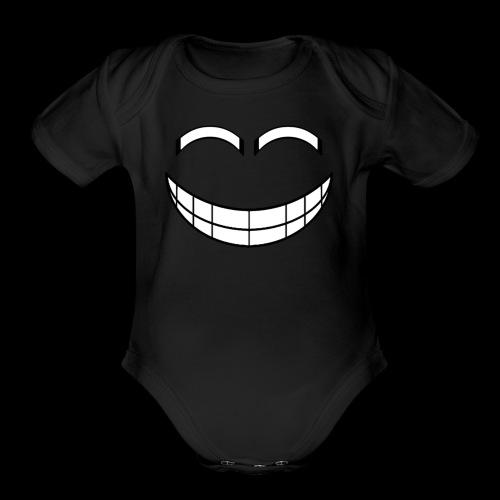 Empty Grin - Organic Short Sleeve Baby Bodysuit