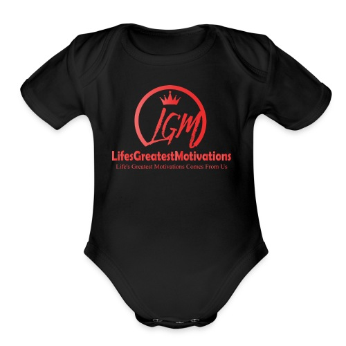 LifesGreatestMotivations Red - Organic Short Sleeve Baby Bodysuit