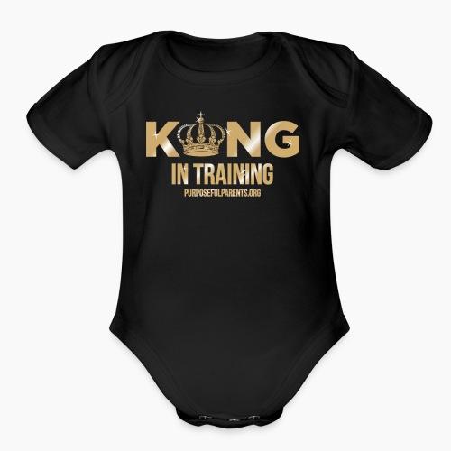 King in Training - Organic Short Sleeve Baby Bodysuit