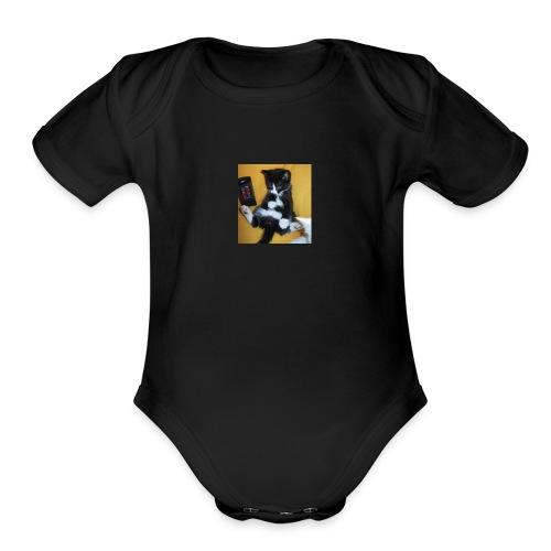 cupcakekitty - Organic Short Sleeve Baby Bodysuit