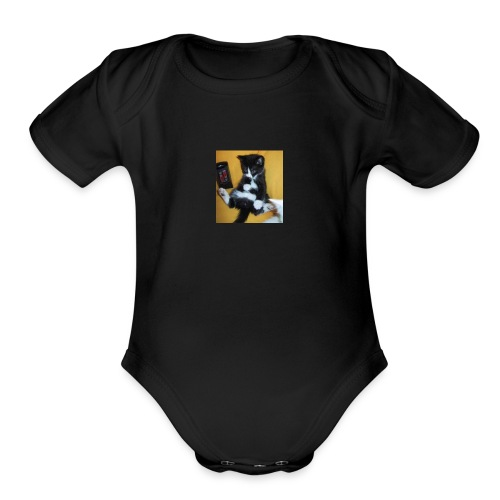 cupcakekitty - Organic Short Sleeve Baby Bodysuit