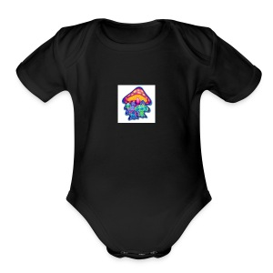 shrooms1 - Short Sleeve Baby Bodysuit