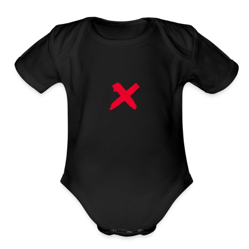 X marks the spot - Organic Short Sleeve Baby Bodysuit