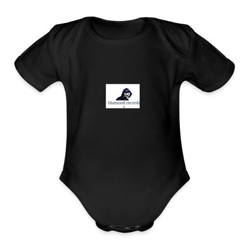 diamond records - Organic Short Sleeve Baby Bodysuit